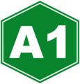 Autopista A1 sign (Cuba).png