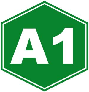 Roads in Cuba - Image: Autopista A1 sign (Cuba)