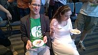 Avner and Darya's wiki Wedding at Wikimania by ovedc 37.jpg
