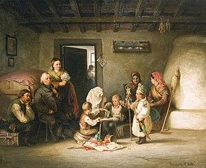 Pál Böhm - Image: Böhm Betlehemes készülődés 1870