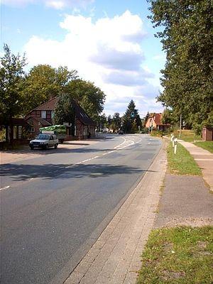 Bundesstraße 209 - B 209 bei Streckenkilometer 2,9 (im Abschnitt Walsrode-Soltau) in der Ortschaft Honerdingen