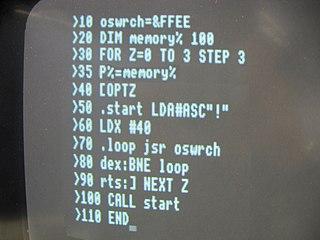 BBC BASIC Version of the BASIC programming language