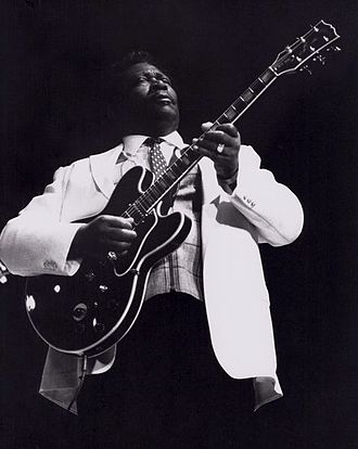 B.B. King - King playing his favorite guitar, Lucille, in the 1980s