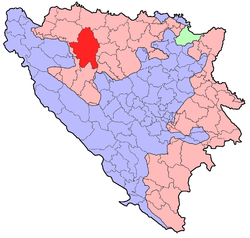 Location within Republika Srpska / Bosnia and Herzegovina