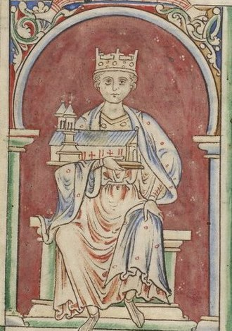 Gerard (archbishop of York) - Image: BL MS Royal 14 C VII f.8v (Henry I)