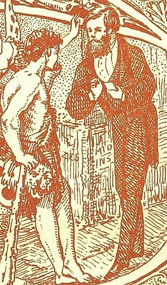 John Henry Chamberlain - Chamberlain enrolling Hercules as a member of the Birmingham and Midland Institute: detail from an 1866 leaflet