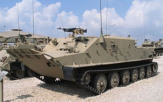 BTR-50 - Israeli-modified ex-Syrian or ex-Egyptian late-production model BTR-50PK APC at the Yad La-Shiryon Museum, Israel. 2005.