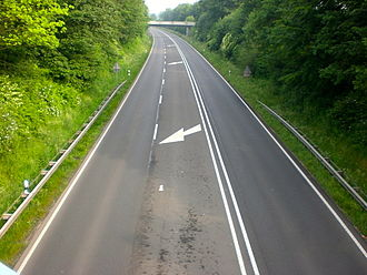 2+1 road - Image: B 54 bei Steinfurt