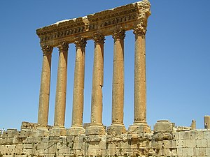 Muslim conquest of the Levant - Temple of Jupiter, Lebanon.