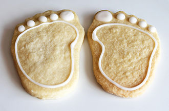 Baby shower - Baby shower shortbread biscuits