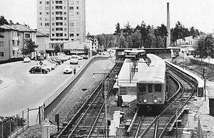 Bagarmossen metro station - The former station, circa 1960