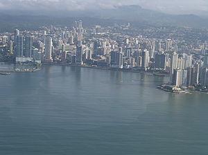 Panama Bay - Image: Bahia de panama desde arriba