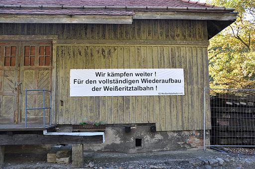 Bahnhof Seifersdorf Plakat