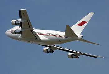 Boeing 747SP of the Bahrain Royal Flight