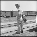 Bakersfield, California. On the Freights. One of two migrant boys in California returning to their families in... - NARA - 532066.tif