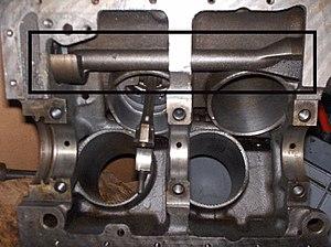 Balance shaft - Balance shaft in Ford Taunus V4 engine.