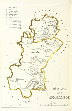 Surat Agency - Bansda and Dharampur, 1896