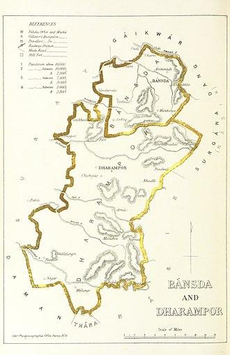 Dharampur State - Bansda and Dharampur, 1896