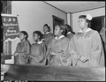 Baptist Church Choir, won district singing competition in 1945. Inland Steel Company, Wheelwright ^1 & 2 Mines... - NARA - 541510.tif