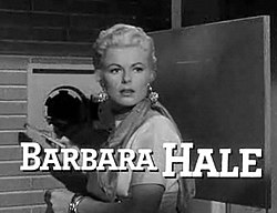 Barbara Hale i The Houston Story 1956.