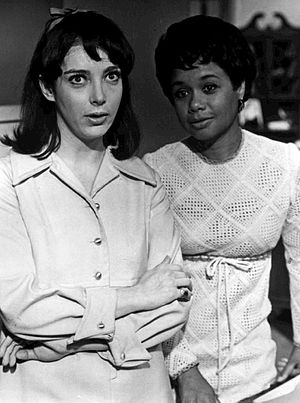 Micki Grant - Grant (right) with Barbara Rodell on the daytime drama, Another World, 1968.