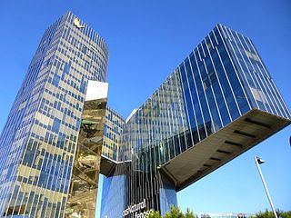 Office skyscraper in Barcelona, Spain