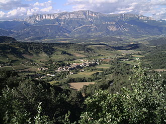 Barnave, Drôme - The village and the Glandasse mountain