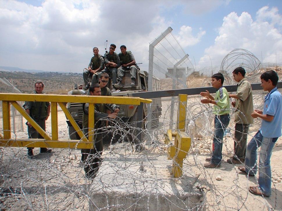 Barrier Gate at Bilin Palestine