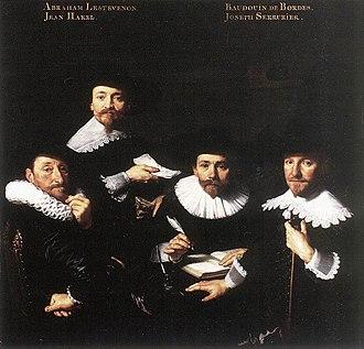 Regents group portrait - Image: Bartholomeus van der Helst Regents of the Walloon Orphanage WGA11346