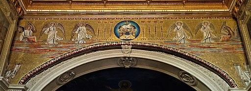 Basilica dei Santi Cosma e Damiano arco di trionfo