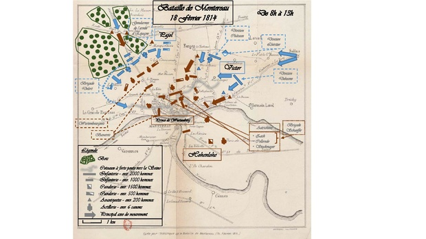 Battle of Montereau map opens into two pages. Bataille Montereau 18 02 1814.pdf
