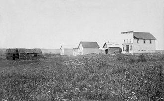 Batoche, Saskatchewan - Batoche in 1885