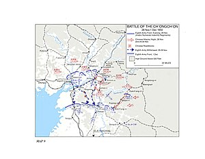Battle of Wawon - Image: Battle of Ch'ongch'on River Map
