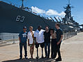 Battleship cast, USS Missouri Memorial at Joint Base Pearl Harbor-Hickam.jpg