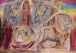 Beatrice Addressing Dante (by William Blake)