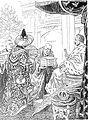 Beim Friedensfürsten Kaiser Wilhelm Karikatur 1914.jpg