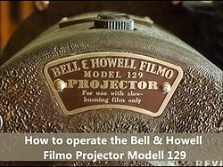 Fil:Bell & Howell Filmo 16 mm projector.webm