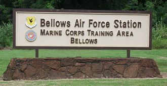 Bellows Air Force Station - This is the sign located at the entrance to Bellows Air Force Station in Hawaii.