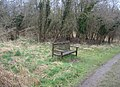Bench on a grey day - geograph.org.uk - 756623.jpg