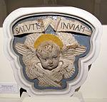 Benedetto buglioni, serafino con cartiglio, 1500-1510 ca., collez. privata.JPG