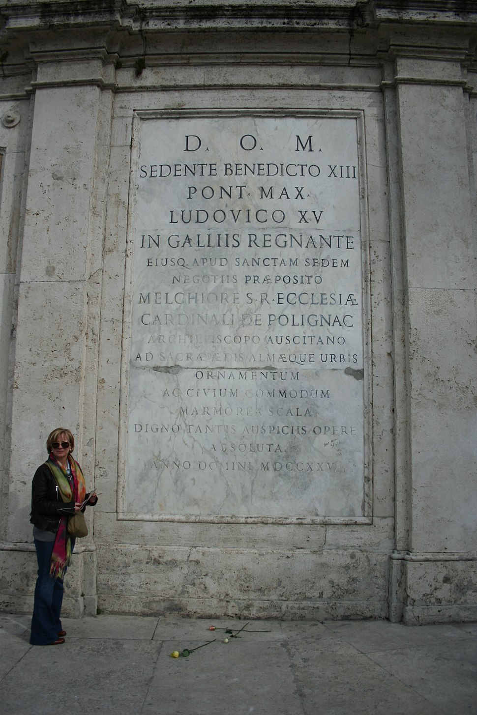 Benedict XIII plaque, Spanish Steps