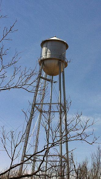 Benjamin, Texas - Water tower in Benjamin