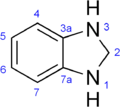 Benzimidazoline numbering.png