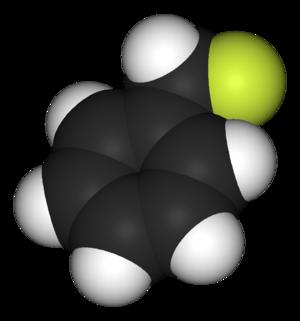 Benzyl fluoride - Image: Benzyl fluoride 3D vd W