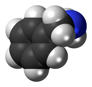 Benzylamine - Image: Benzylamine 3D spacefill
