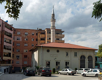 Hysen Pasha Mosque - Hussein Pasha Mosque with its old minaret
