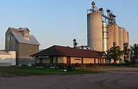 Beresford, SD depot from NW 2 long.JPG