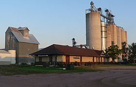 Beresford, SD depot from NW 2 long.JPG
