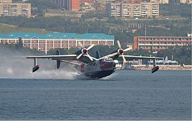 Beriev Be-12P-200 (versione antincendio) all'Air Show di Gelendzhik nel 2004
