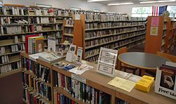 Berkeley Heights NJ public library books and shelves